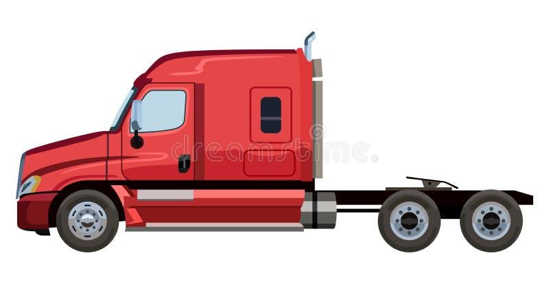 Camion rosso illustrazione vettoriale