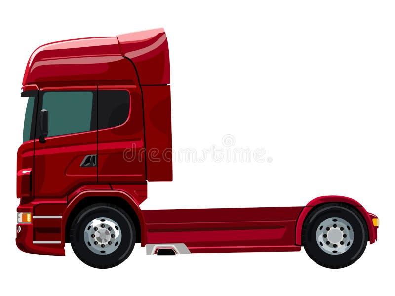 Camion rosso illustrazione di stock