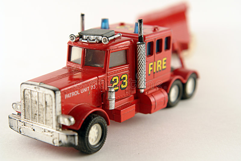 Camion rosso del carico della squadra di soccorso di affari fotografia stock libera da diritti