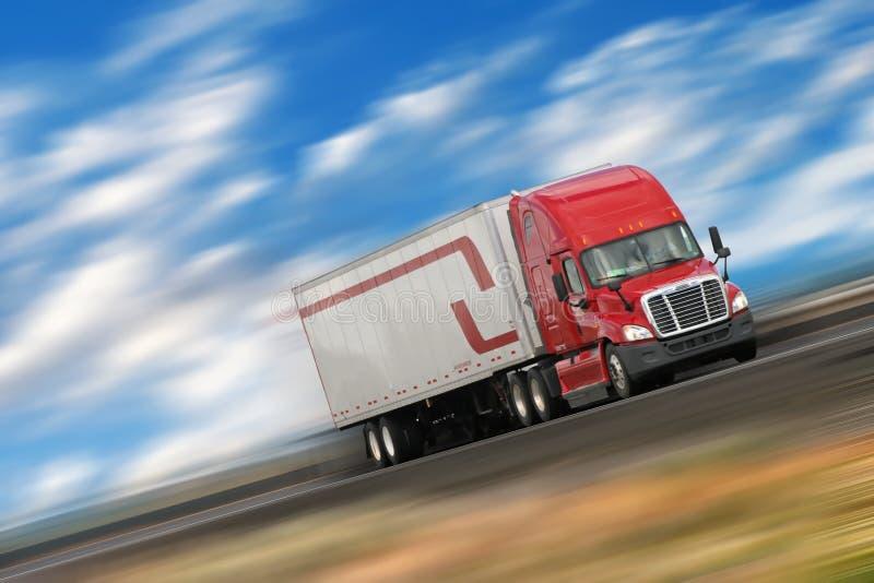 Camion rouge photo libre de droits