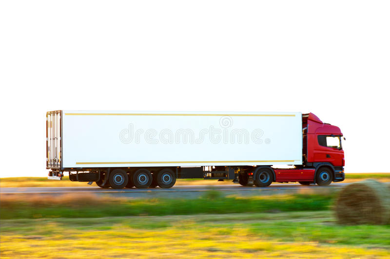 Camion rouge photographie stock