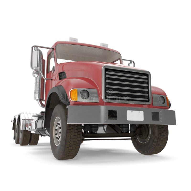 Camion rouge d'isolement sur le blanc illustration 3D illustration stock