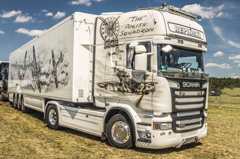 Camion Scania images libres de droits