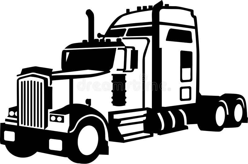 Camion senza rimorchio illustrazione vettoriale