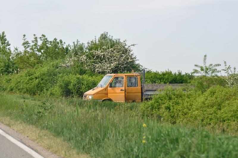 Camion stationné image libre de droits