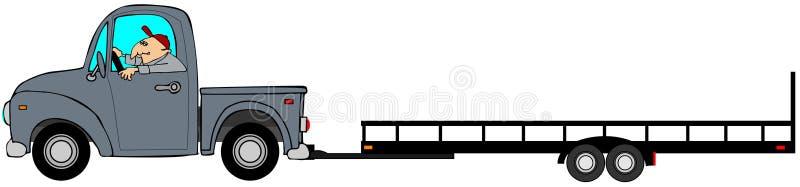 Camion tirant une remorque vide illustration de vecteur