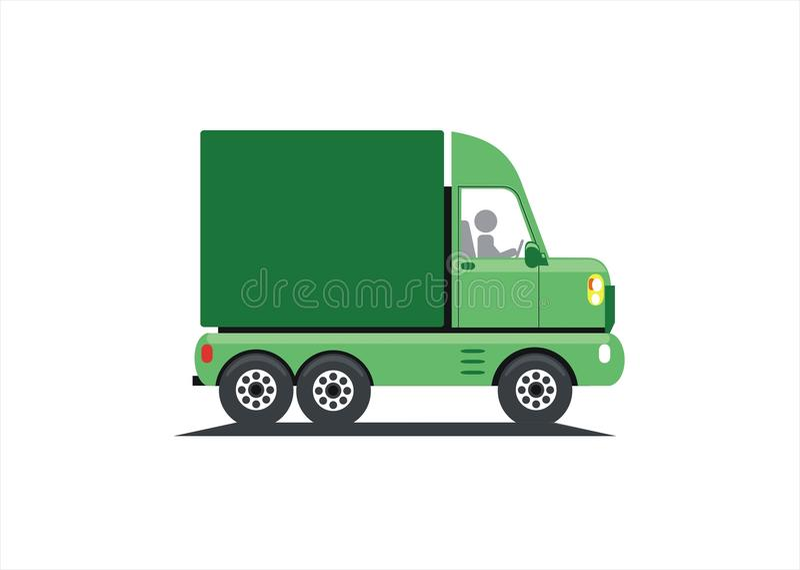 Camion vert illustration stock