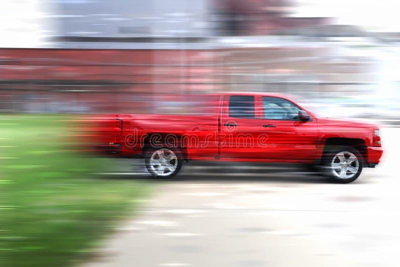 Camioncino rosso fotografia stock libera da diritti