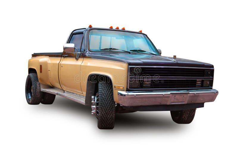 Camioncino scoperto americano Priorità bassa bianca fotografia stock