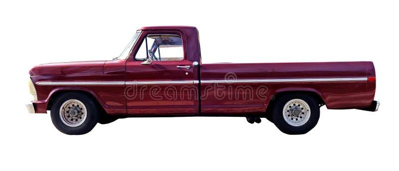 Camioncino scoperto classico di rosso di anni '80 fotografia stock libera da diritti