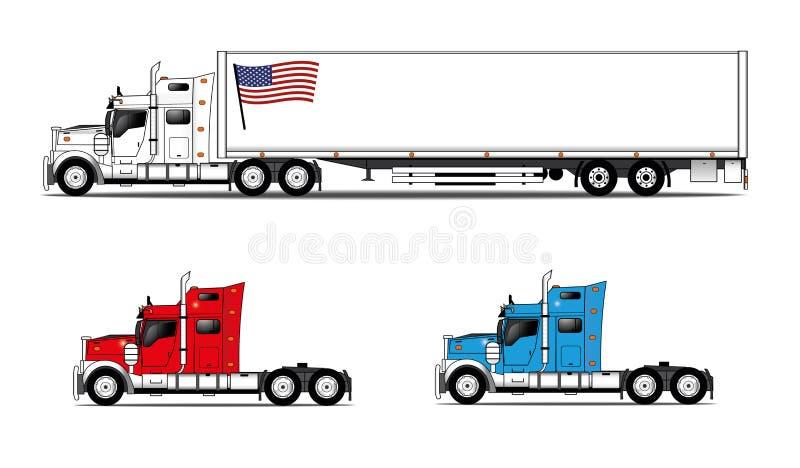 Camiones americanos del estilo stock de ilustración