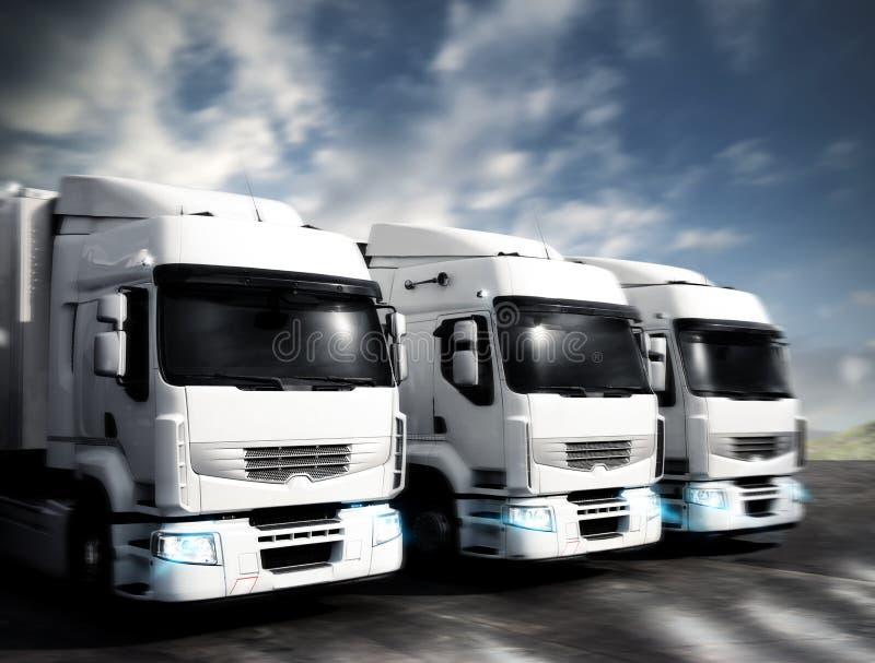 Camiones articulados imágenes de archivo libres de regalías