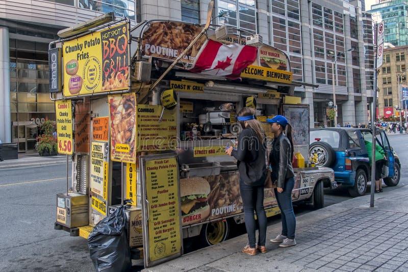 Camiones de la comida de Toronto imagen de archivo