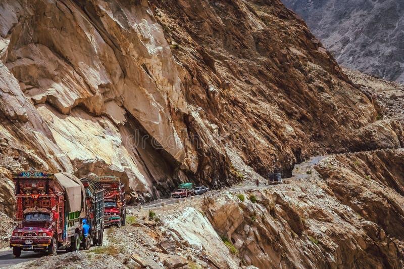 Camiones paquistaníes fotos de archivo libres de regalías