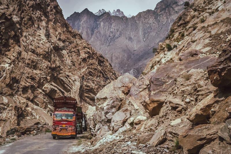 Camiones paquistaníes fotografía de archivo