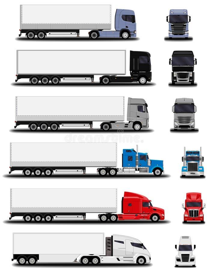Camiones realistas fijados libre illustration