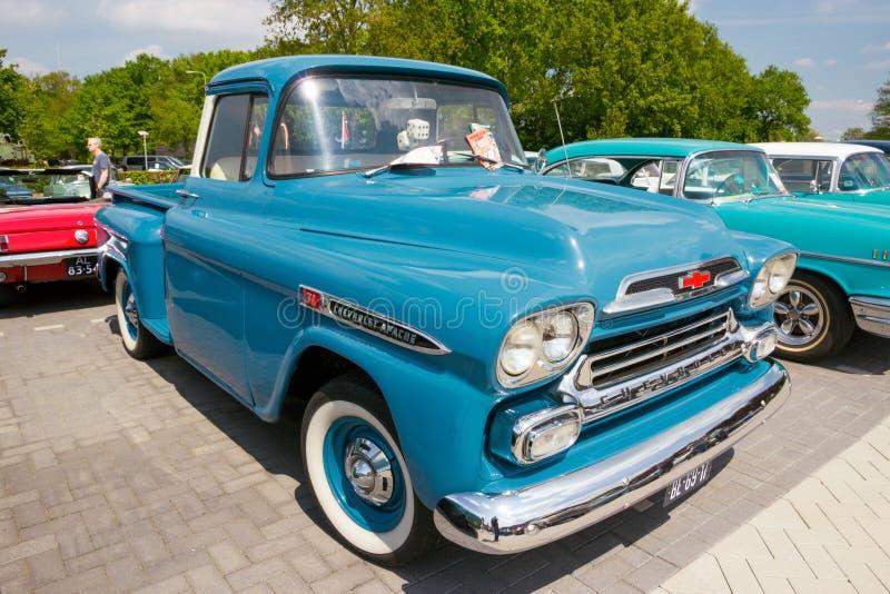 Camioneta pickup 1959 de Chevrolet Apache 3100 fotos de archivo