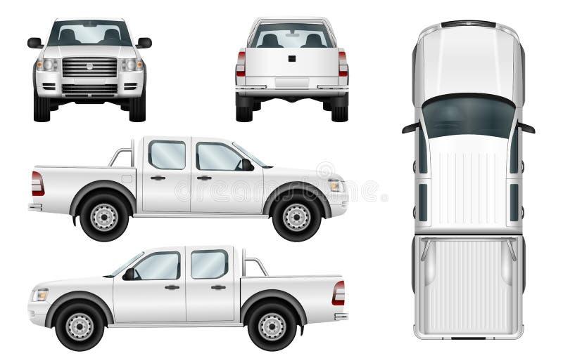 Camioneta pickup del vector en el fondo blanco libre illustration
