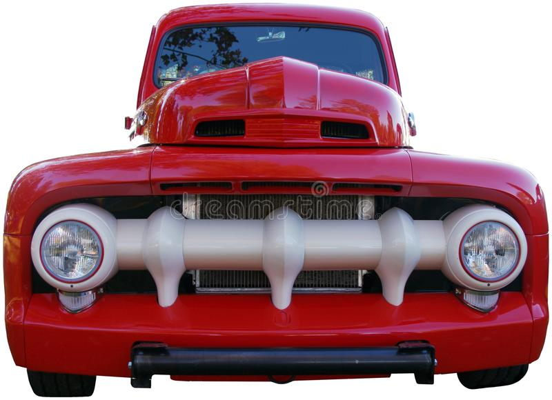 Camioneta pickup roja vieja fotos de archivo