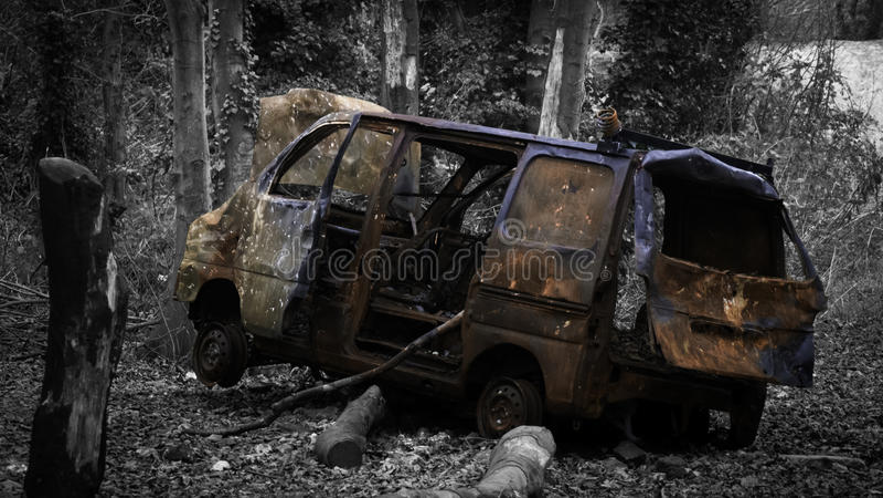 Camionete abandonada fotografia de stock royalty free