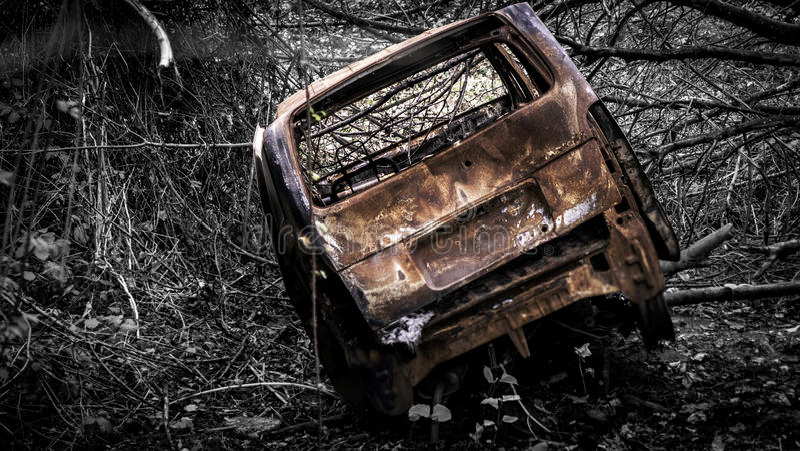 Camionete abandonada imagens de stock royalty free
