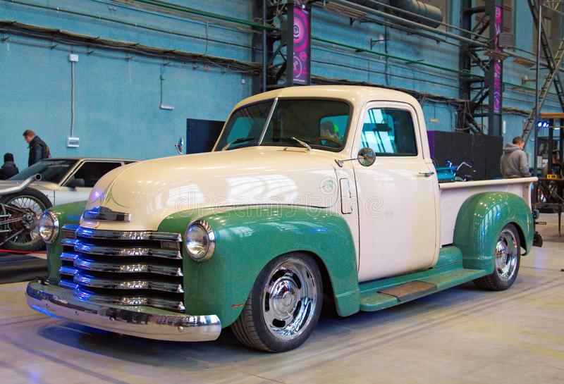 Camionete americano clássico fotografia de stock royalty free