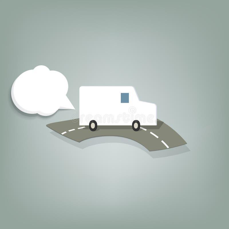 Camionete branca ilustração royalty free