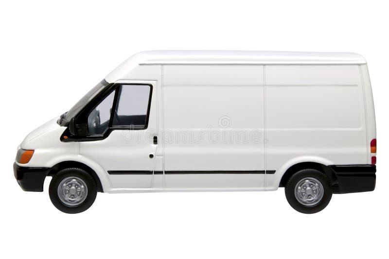 Camionete branca lado foto de stock royalty free