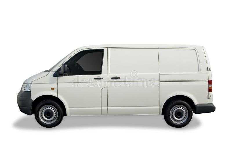 Camionete branca vazia foto de stock