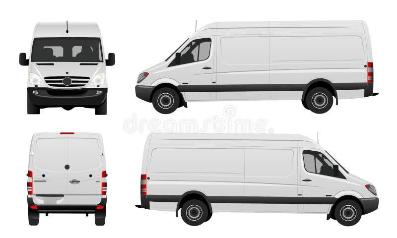 Camionete branca vetor fotografia de stock