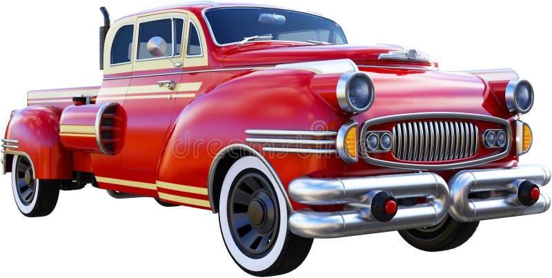 Camionete clássico do vintage, isolado ilustração royalty free