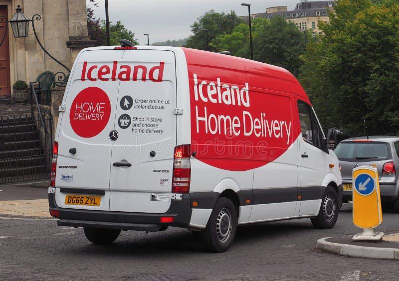 Camionete da entrega a domicílio de Islândia foto de stock royalty free