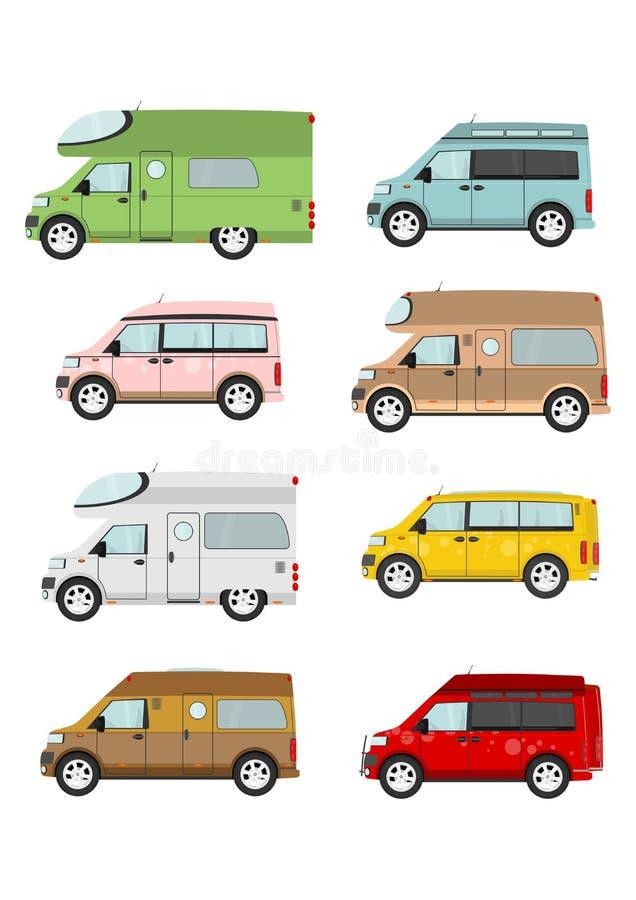 Camionete de campista dos desenhos animados ilustração stock