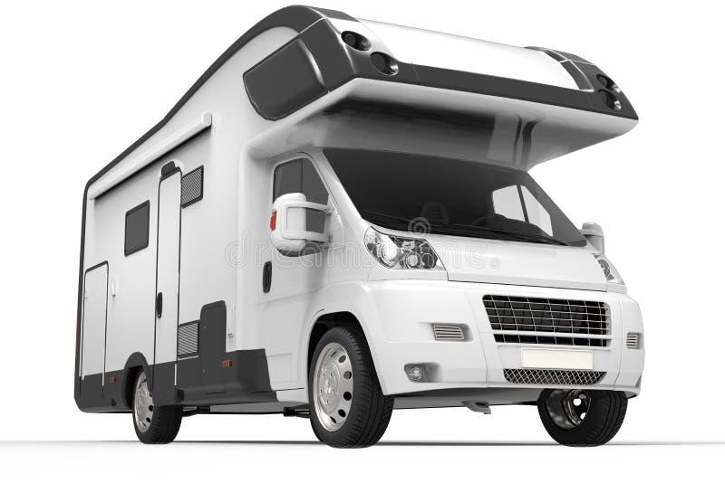 Camionete de campista preto e branco grande ilustração do vetor
