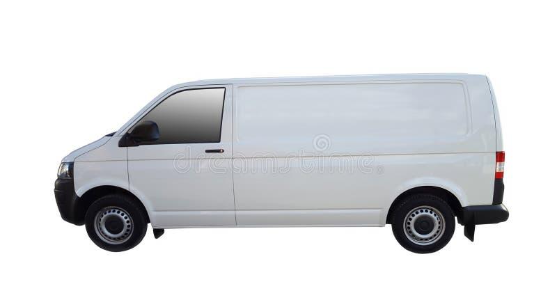 Camionete de entrega branca fotografia de stock