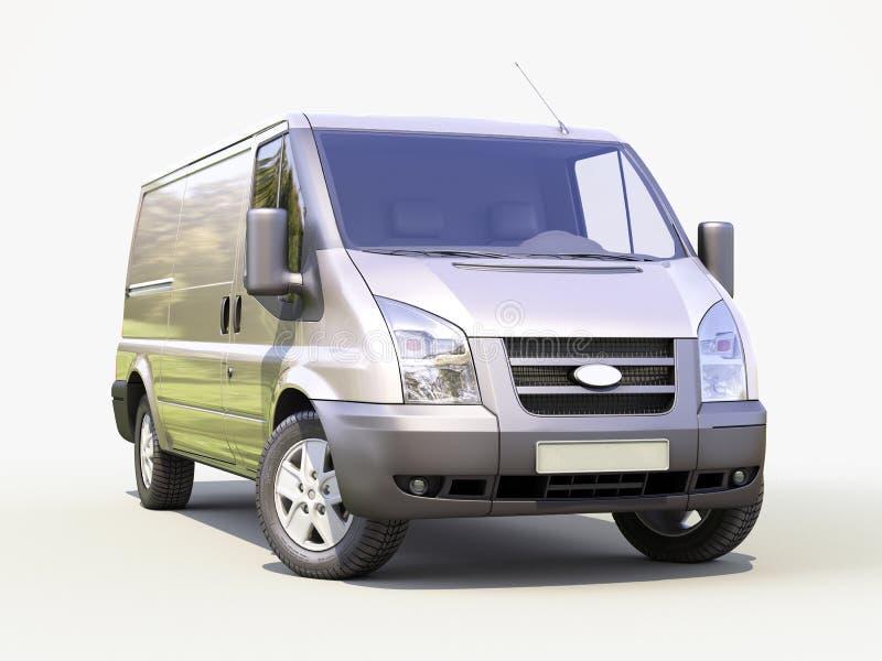 Camionete de entrega comercial cinzenta ilustração do vetor
