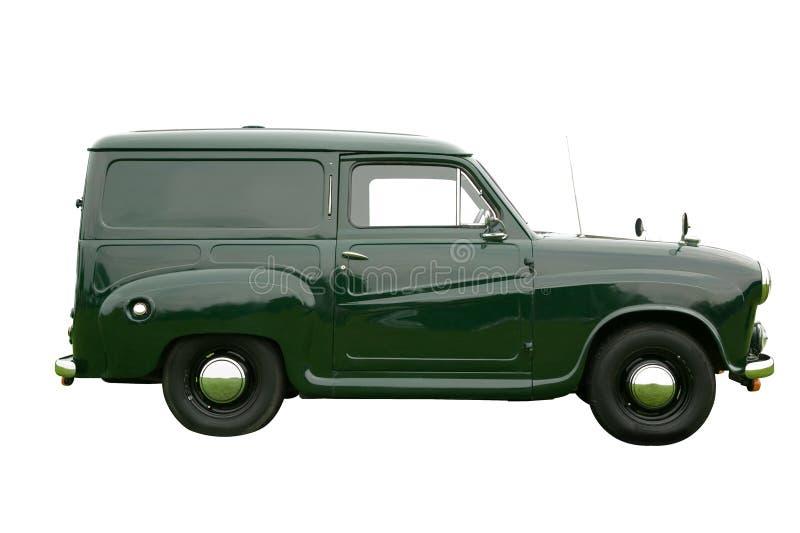 Camionete de entrega verde imagens de stock royalty free