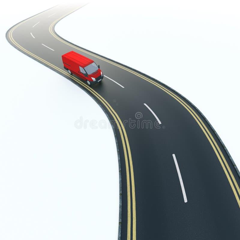 Camionete de entrega vermelha ilustração stock