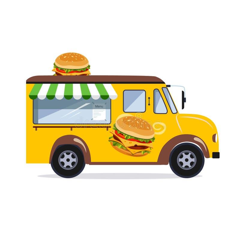 Camionete do alimento da rua ilustração stock