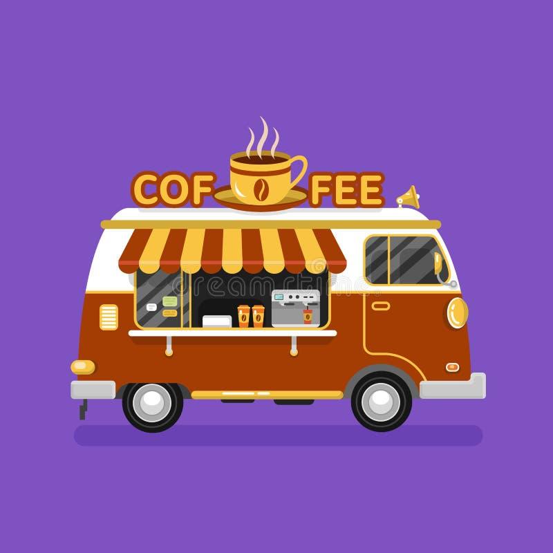 Camionete do café ilustração stock