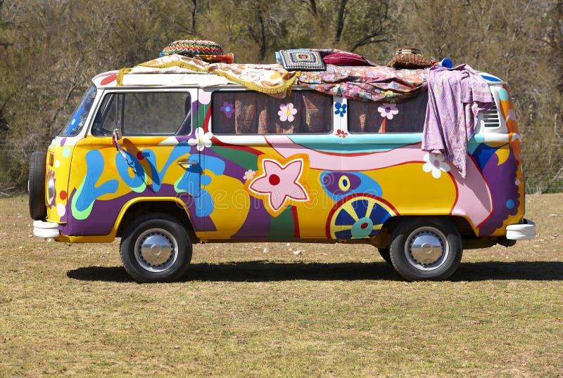 Camionete do Hippie fotos de stock royalty free
