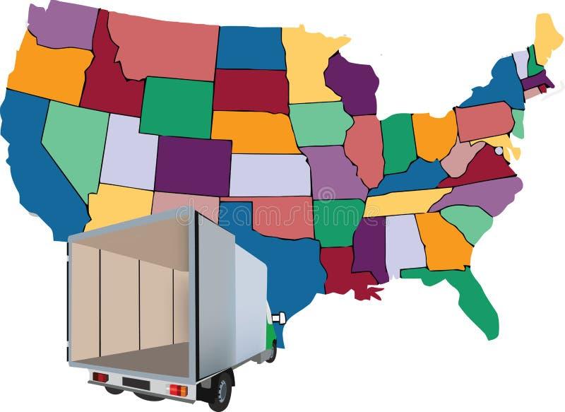 Camionete do transporte ilustração stock