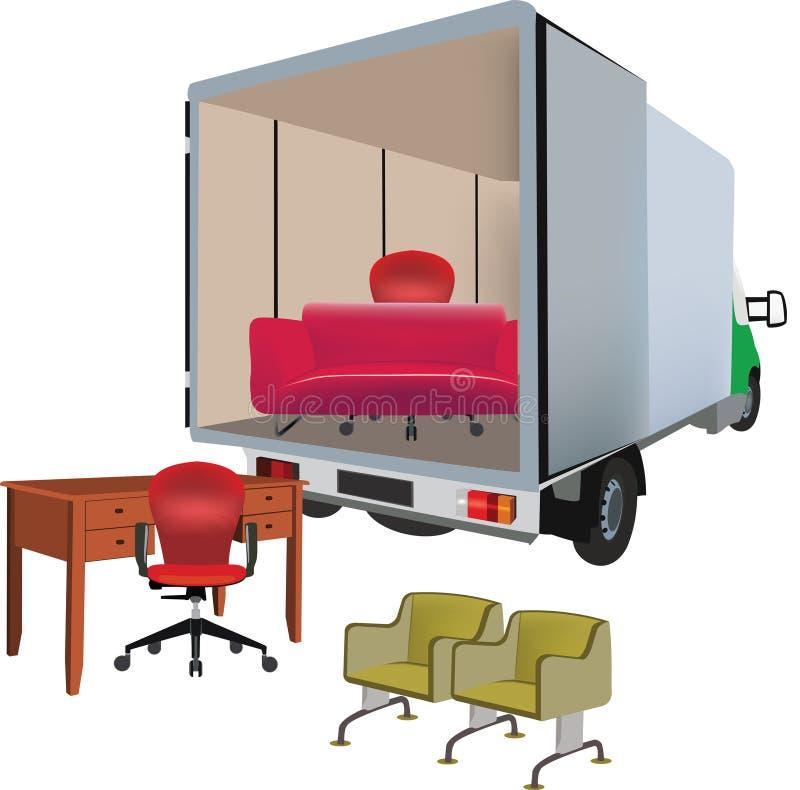 Camionete do transporte ilustração royalty free