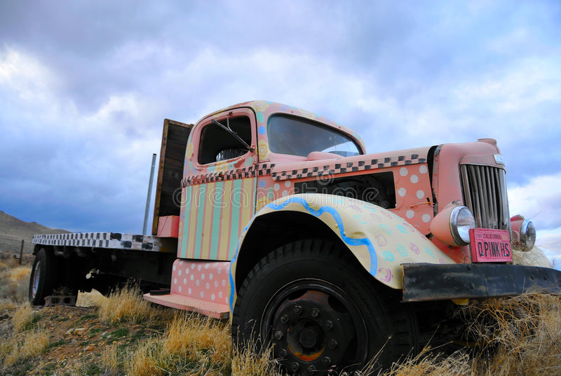 Camionete do vintage imagem de stock