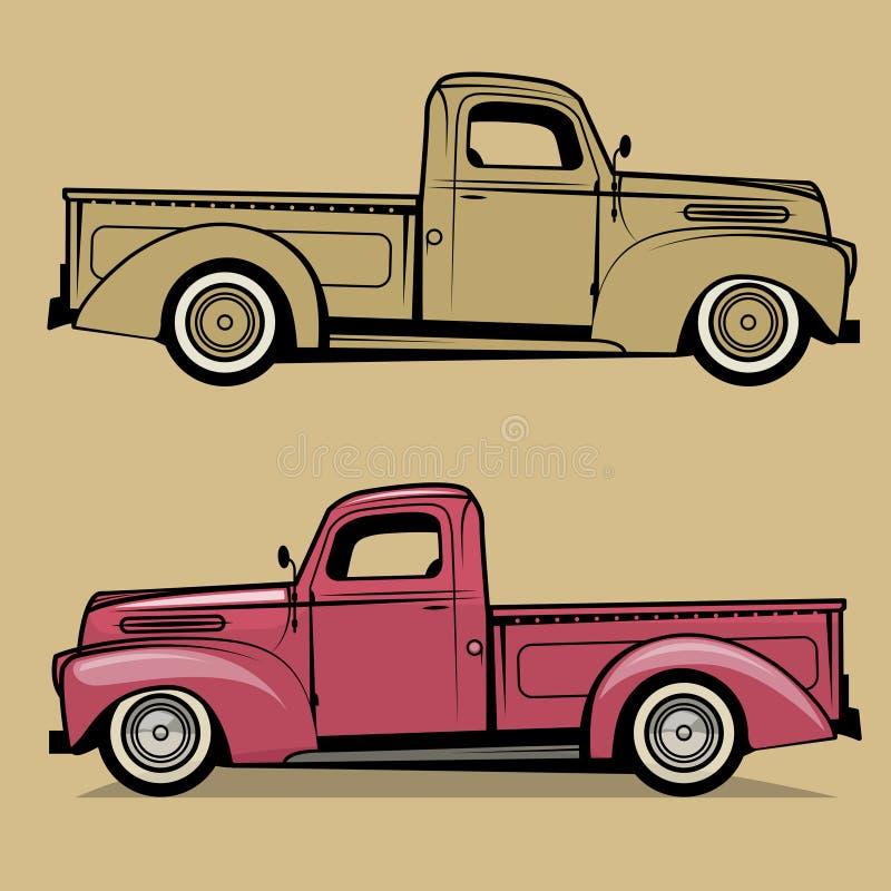 Camionete retro ilustração royalty free