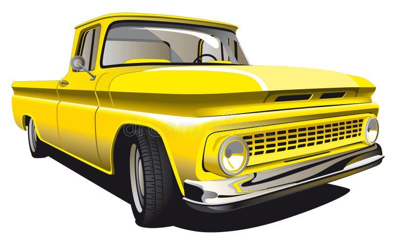 Camionnette de livraison jaune illustration stock