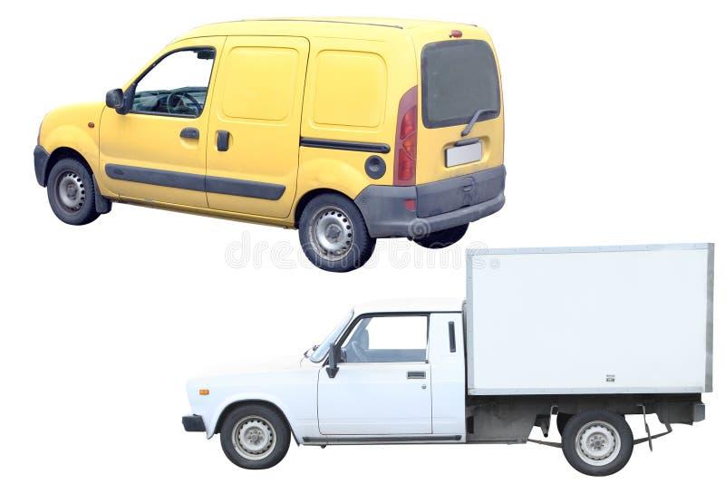 Camionnettes de livraison photo libre de droits