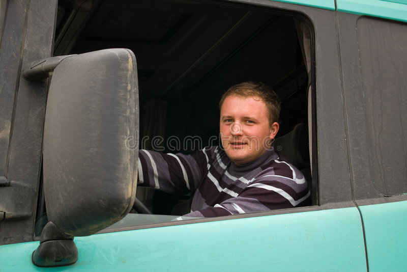 Camionneur photographie stock libre de droits