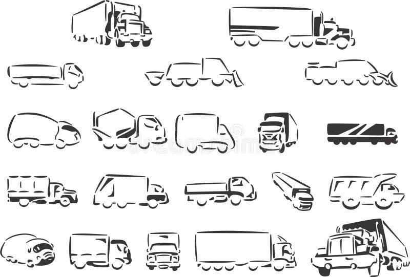 Camions illustration de vecteur