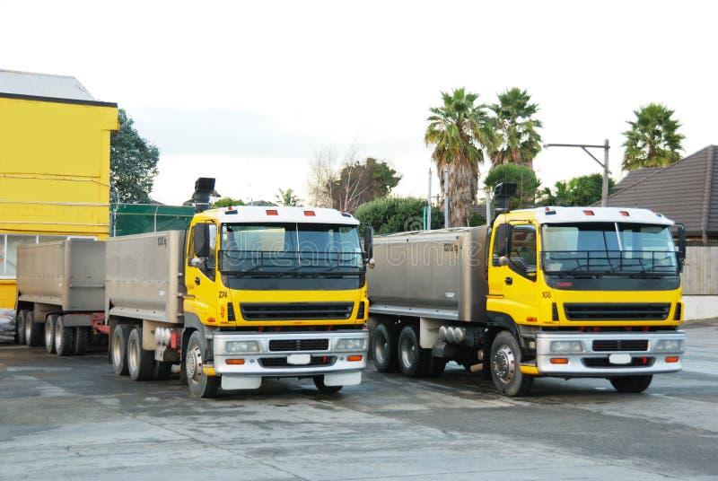 Camions concrets photographie stock libre de droits